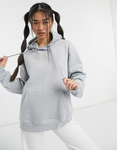 Темно-серый худи с логотипом-галочкой Nike-Многоцветный