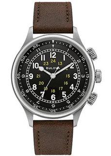Японские наручные мужские часы Bulova 96A245. Коллекция Pilot