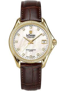 Швейцарские наручные женские часы Le Temps LT1030.85BL62. Коллекция Sport Elegance