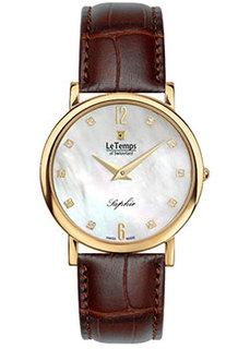 Швейцарские наручные женские часы Le Temps LT1085.65BL62. Коллекция Zafira Slim
