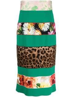 Dolce & Gabbana юбка-карандаш в технике пэчворк