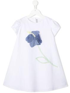 Il Gufo платье А-силуэта с цветочной аппликацией