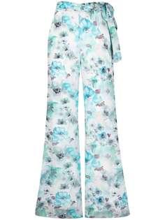 Patrizia Pepe расклешенные брюки с цветочным принтом