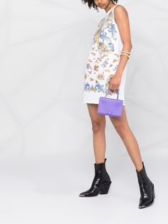 Versace Jeans Couture платье-трапеция Versailles с графичным принтом
