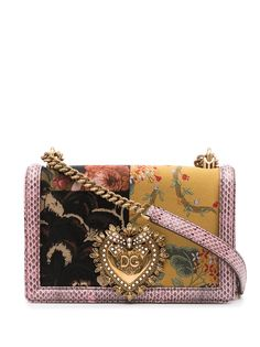 Dolce & Gabbana сумка на плечо Devotion в технике пэчворк
