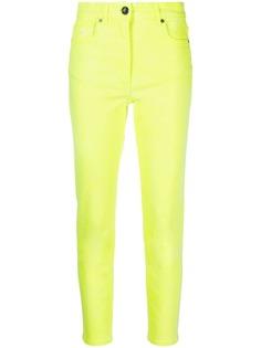 Etro укороченные джинсы Fluorescent с завышенной талией
