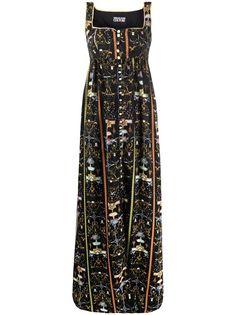 Versace Jeans Couture платье макси с графичным принтом