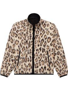John Elliott куртка на молнии с леопардовым принтом