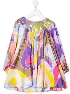 Emilio Pucci Junior платье с абстрактным принтом