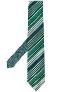 Etro двусторонний галстук в полоску