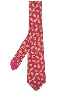 Hermès галстук 2000-х годов с принтом Hermes