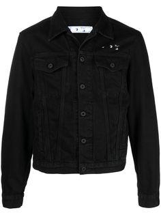 Off-White джинсовая куртка с принтом Arrows