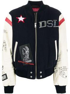 Diesel куртка с графичным принтом
