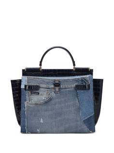 Dolce & Gabbana сумка-тоут со вставками из денима