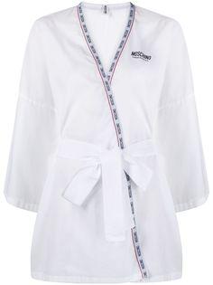 Moschino ночная рубашка с логотипом