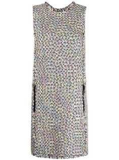 Emporio Armani твидовое платье без рукавов