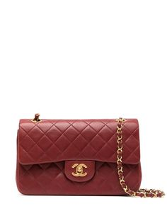 Chanel Pre-Owned сумка на плечо Double Flap 1990-х годов