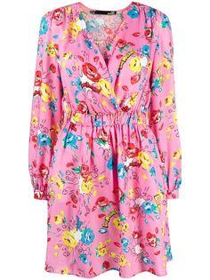 Love Moschino платье с V-образным вырезом и цветочным принтом
