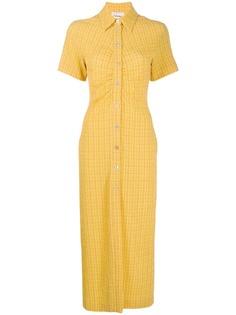 Nanushka приталенное платье-рубашка Sabri