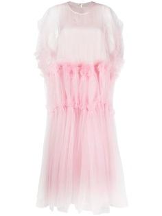 Comme Des Garçons Noir Kei Ninomiya платье из тюля с оборками