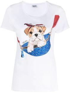 LIU JO футболка с принтом