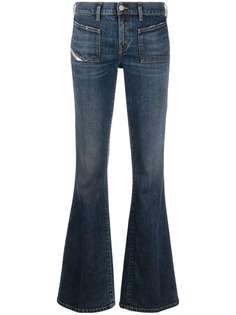 Diesel расклешенные джинсы D-Ebbey-X с заниженной талией