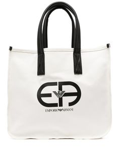 Emporio Armani сумка-тоут из канваса с логотипом