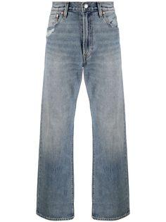 Levis широкие джинсы с эффектом потертости
