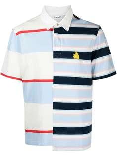 LANVIN полосатая рубашка поло в технике пэчворк