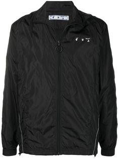Off-White легкая куртка с логотипом