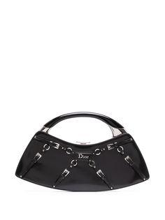 Christian Dior маленькая сумка-тоут с пряжками и логотипом