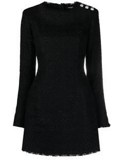 Balmain твидовое платье мини с пуговицами