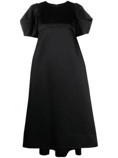 Comme Des Garçons платье миди с пышными плечами