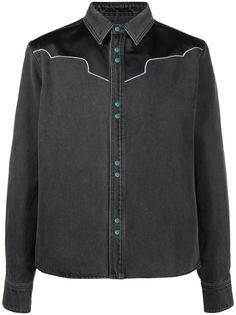 Off-White куртка-рубашка в стиле вестерн с логотипом Arrows