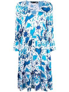 Love Moschino платье с V-образным вырезом и принтом