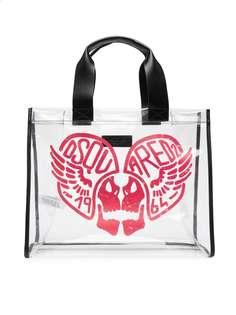 Dsquared2 Kids прозрачная сумка-тоут с принтом