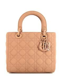 Christian Dior сумка Cannage Lady Dior pre-owned среднего размера