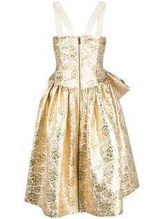 Moschino жаккардовое платье без рукавов