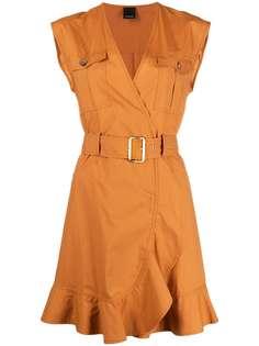 Pinko платье без рукавов с поясом
