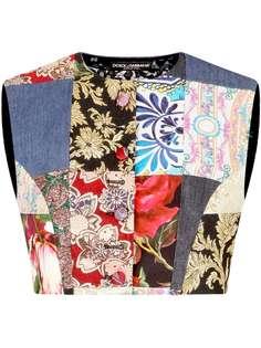 Dolce & Gabbana жилет с принтом