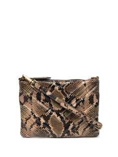 Pinko стеганая сумка через плечо с тиснением под кожу змеи