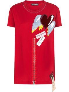 Dolce & Gabbana футболка с нашивками