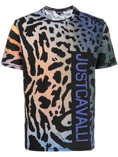 Just Cavalli футболка с леопардовым принтом
