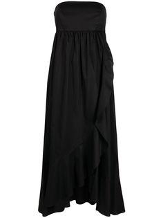 TWINSET расклешенное платье макси без бретелей