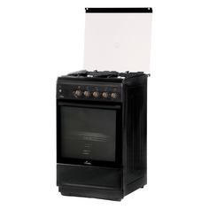 Газовая плита FLAMA N FG 24239 At, газовая духовка, стеклянная крышка, антрацит