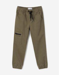 Хаки джинсы-джоггеры для мальчика Gloria Jeans