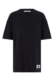 Черная объемная футболка Acne Studios