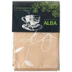 Скатерть из ткани с влагостойким покрытием, 120х140 см, Alba Анна беж