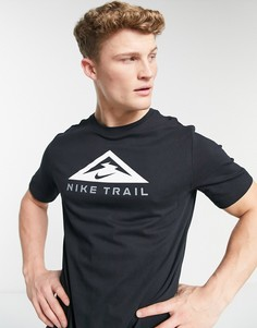 Черная футболка Nike Running Trail-Черный цвет