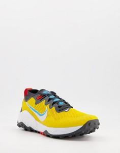 Желтые кроссовки Nike Running Wildhorse 7-Желтый